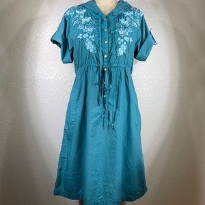 Johnny Was Bihly Workshop cotton Dress Sz M NWT